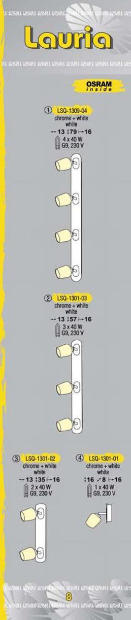 Технические характеристики светильника Lauria LSQ-1301-03