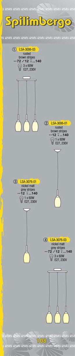 Технические характеристики светильника Spilimbergo LSA-3076-03