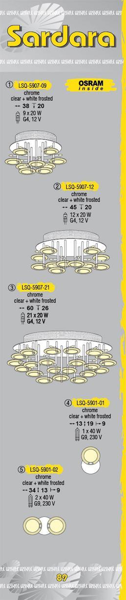 Технические характеристики светильника Sardara LSQ-5907-12