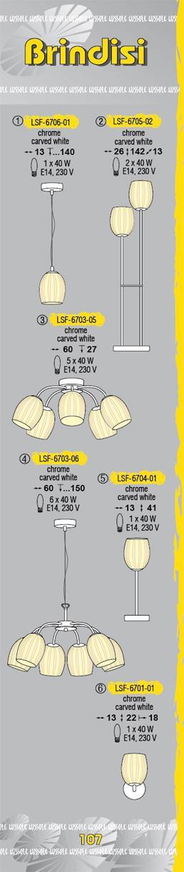Технические характеристики светильника Brindisi LSF-6703-05