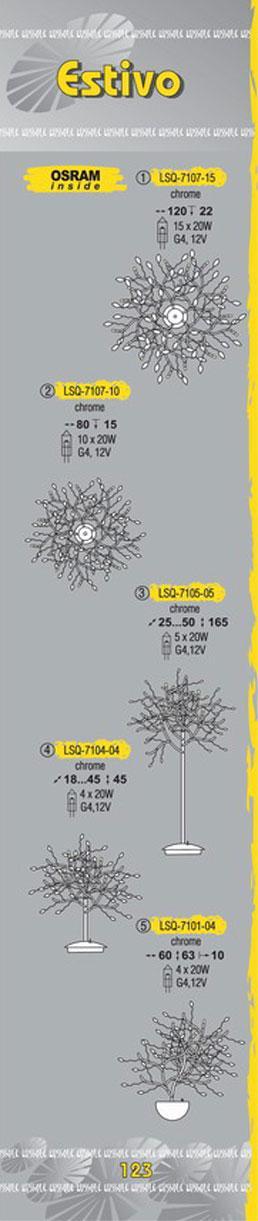 Технические характеристики светильника Estivo LSQ-7107-15