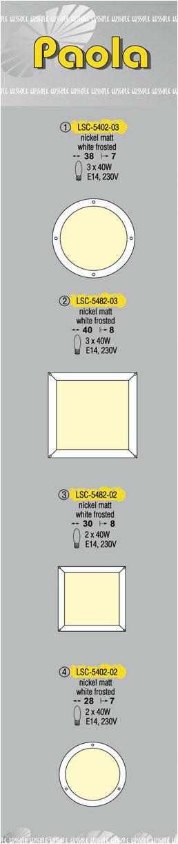 Технические характеристики светильника Paola LSC-5402-03