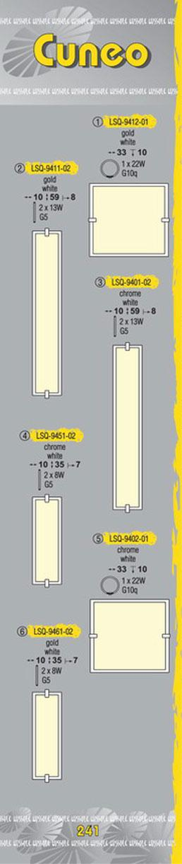 Технические характеристики светильника Cuneo LSQ-9402-01