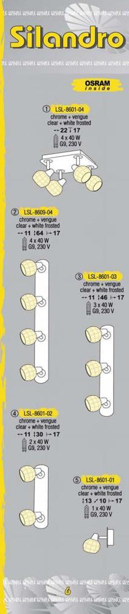 Технические характеристики светильника Silandro LSL-8601-04
