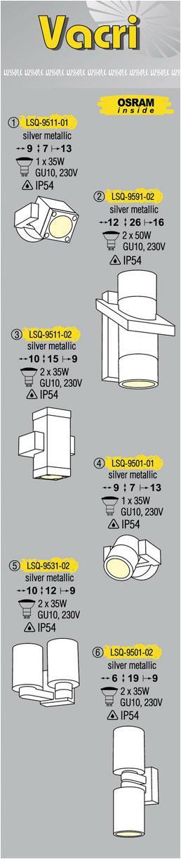 Технические характеристики светильника Vacri LSQ-9501-02