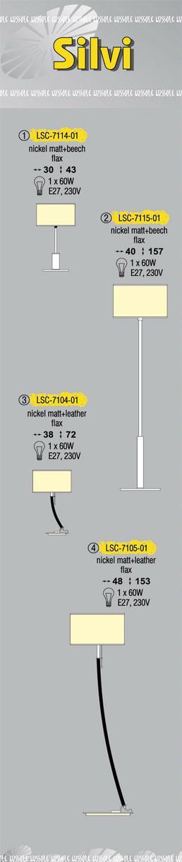 Технические характеристики светильника Siivi LSC-7104-01