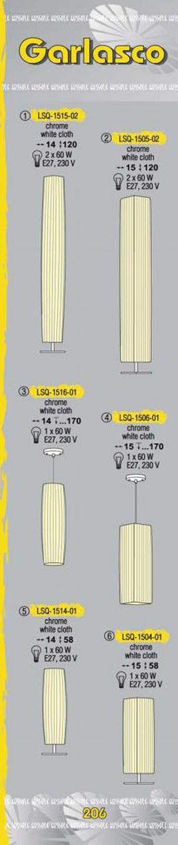 Технические характеристики светильника Garlasco LSQ-1516-01