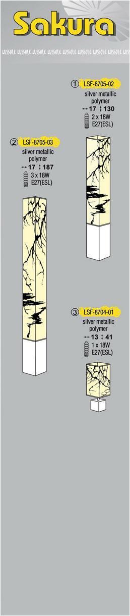 Технические характеристики светильника Sakura LSF-8705-02