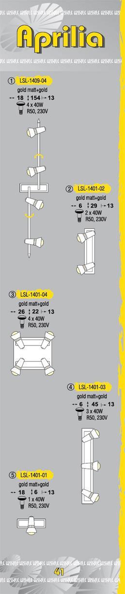 Технические характеристики светильника Aprilia LSL-1401-03
