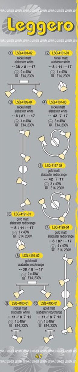 Технические характеристики светильника Leggero LSQ-4107-03