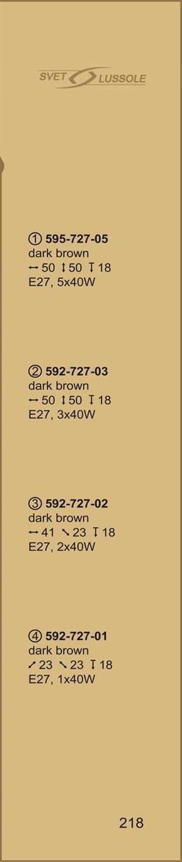 Технические характеристики светильника 595-727-05 velante