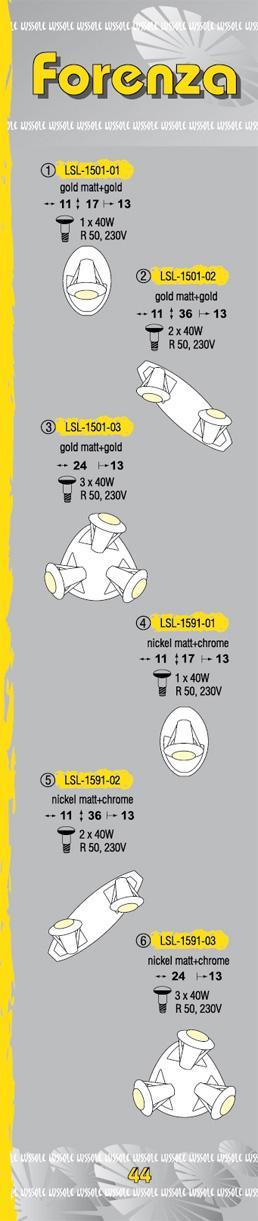 Технические характеристики светильника Forenza LSL-1591-03