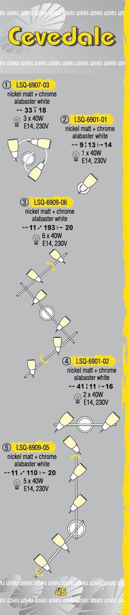 Технические характеристики светильника Cevedale LSQ-6907-03
