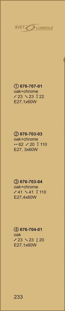 Технические характеристики светильника 676-703-03 velante