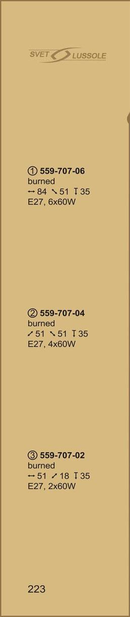 Технические характеристики светильника 559-707-04 velante