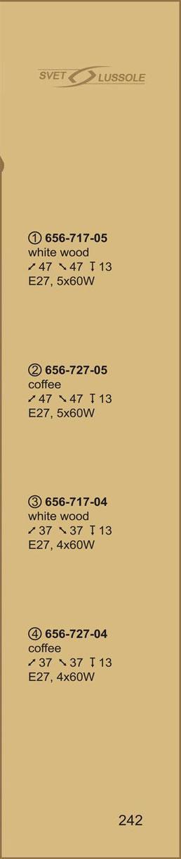 Технические характеристики светильника 656-727-05 velante