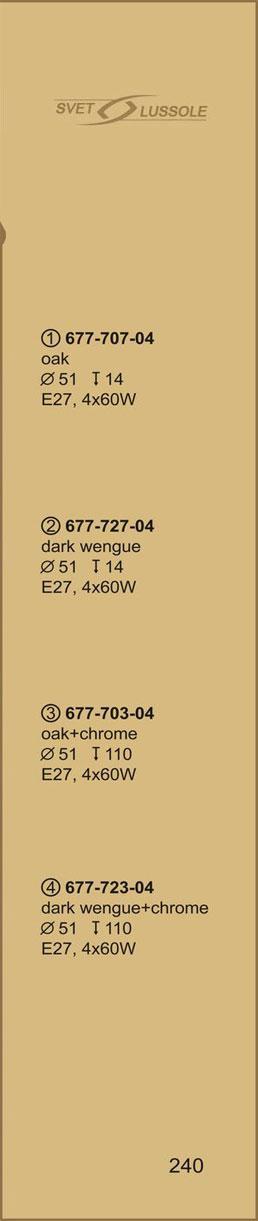 Технические характеристики светильника 677-727-04 velante