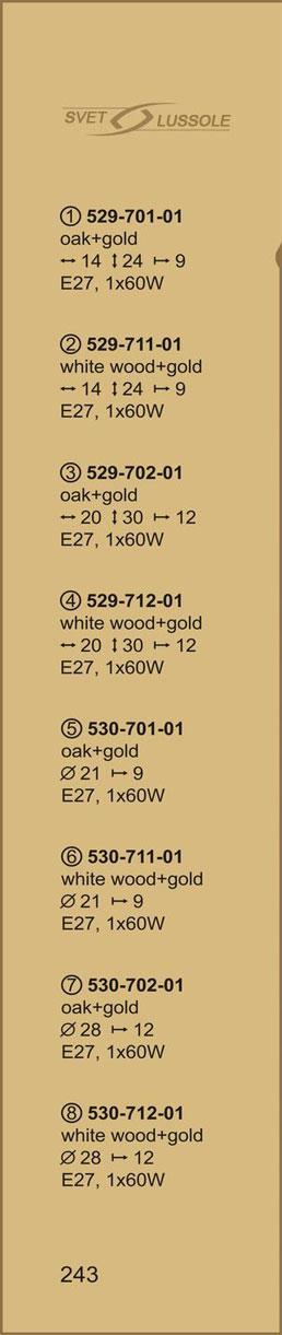 Технические характеристики светильника 530-702-01 velante
