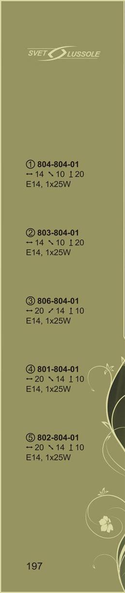 Технические характеристики светильника 804-804-01 velante