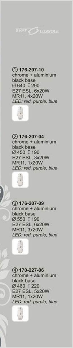 Технические характеристики светильника 176-207-10 velante
