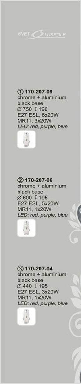 Технические характеристики светильника 170-207-09 velante