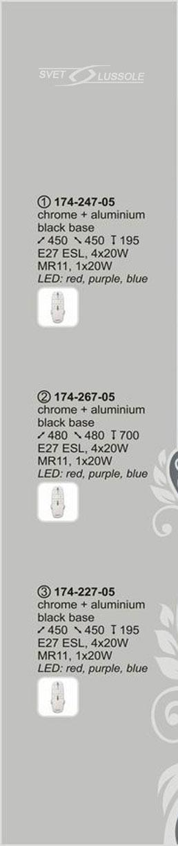 Технические характеристики светильника 174-247-05 velante