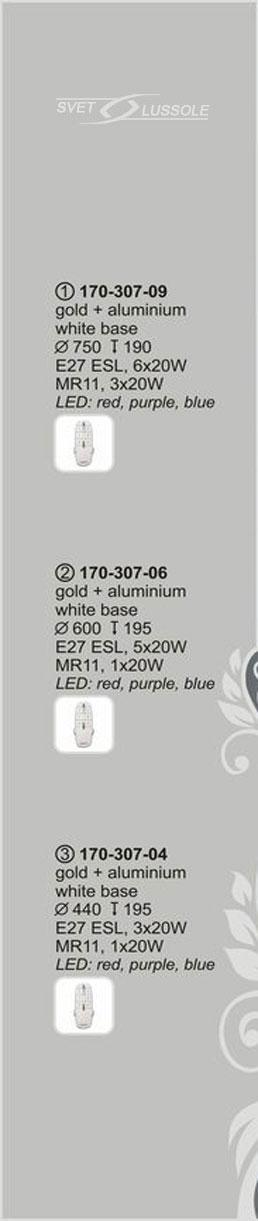 Технические характеристики светильника 170-307-09 velante