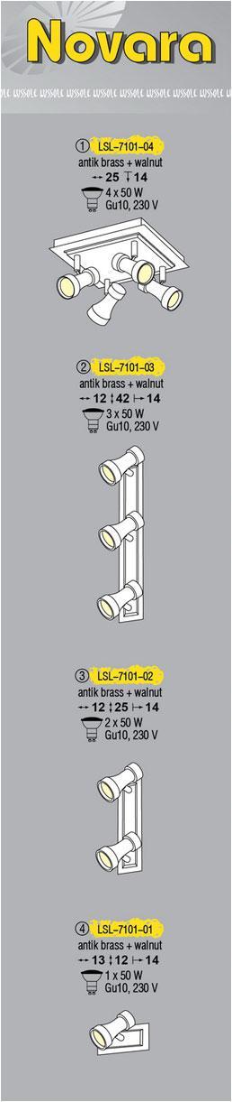 Технические характеристики светильника Novara LSL-7101-04