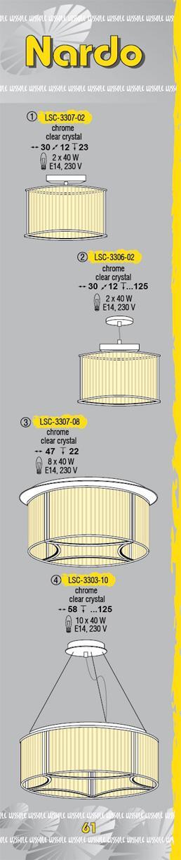 Технические характеристики светильника Nardo LSC-3307-08