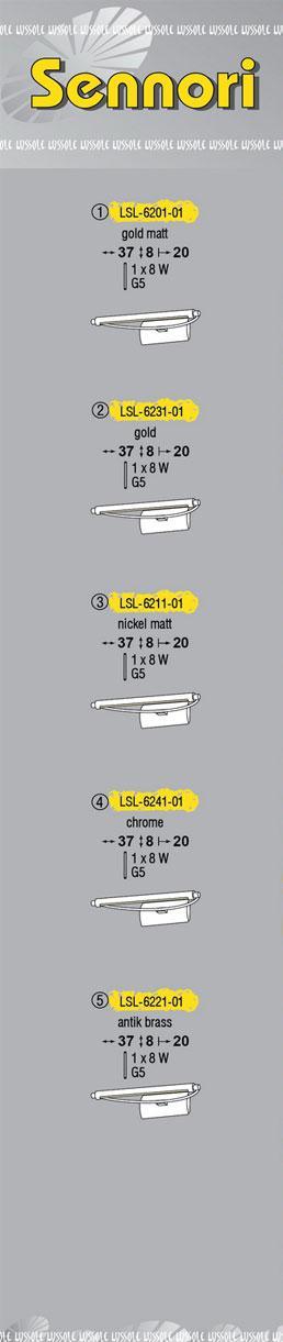 Технические характеристики светильника Sennori LSL-6221-01