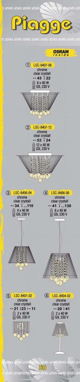 Технические характеристики светильника Piagge LSC-8407-12