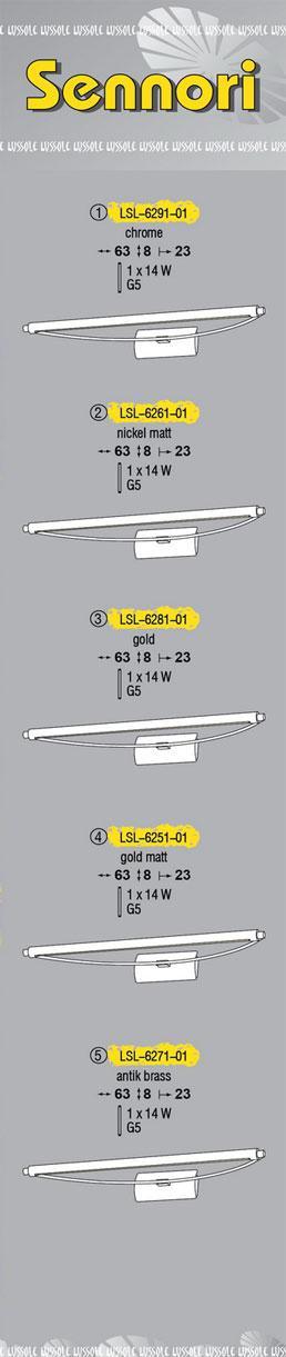 Технические характеристики светильника Sennori LSL-6281-01