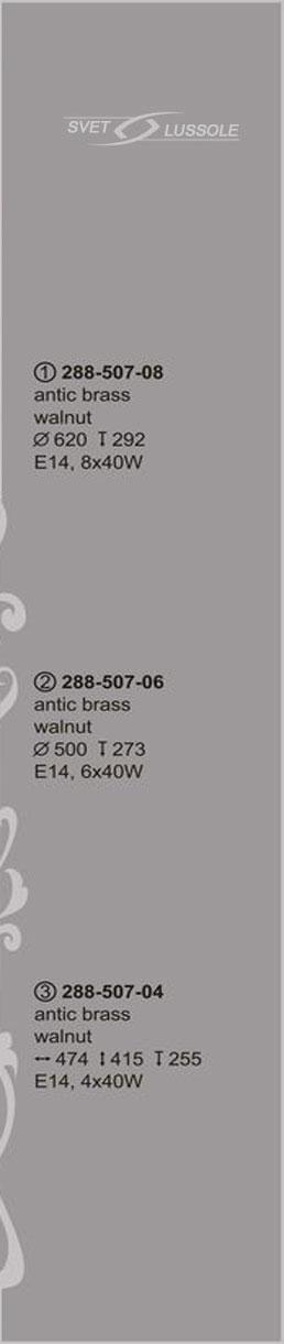 Технические характеристики светильника 288-507-08_velante