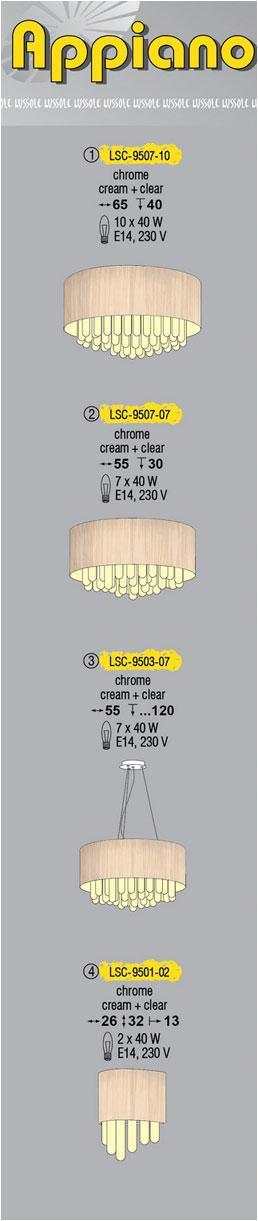 Технические характеристики светильника Appiano LSC-9507-07