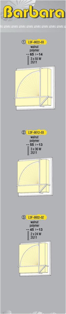 Технические характеристики светильника Barbara LSF-9012-03