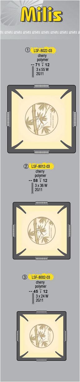Технические характеристики светильника Milis LSF-8012-03