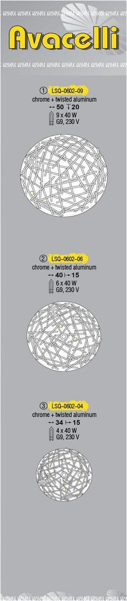 Технические характеристики светильника Avacelli LSQ-0602-06