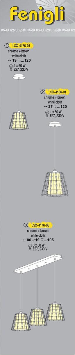 Технические характеристики светильника Fenigli LSX-4176-01
