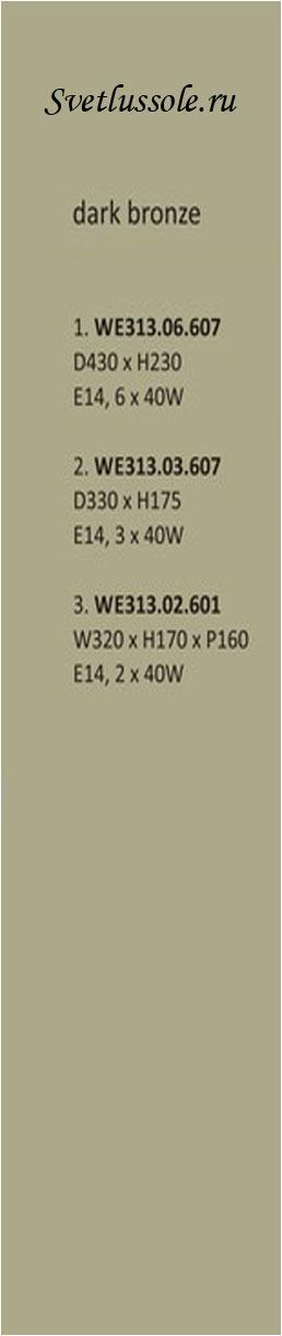 Технические характеристики светильника WE313.06.607_wertmark
