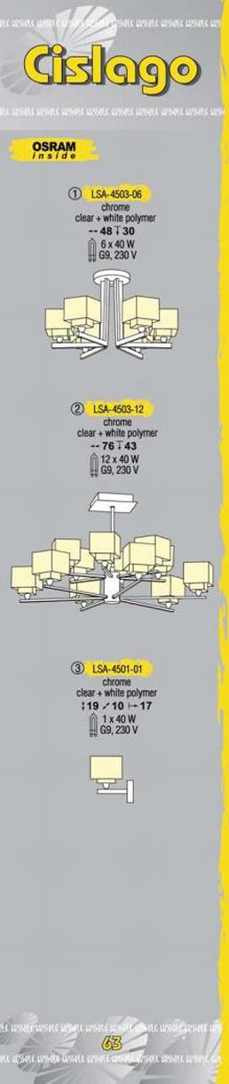 Технические характеристики светильника Cislago LSA-4503-06
