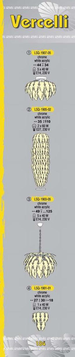 Технические характеристики светильника Vercelli LSQ-1907-05