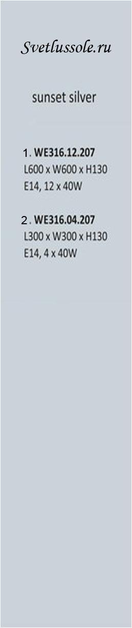 Технические характеристики светильника WE316.12.207_wertmark