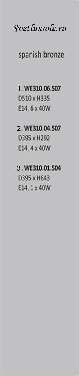 Технические характеристики светильника WE310.06.507_wertmark