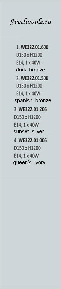 Технические характеристики светильника WE322.01.506_wertmark