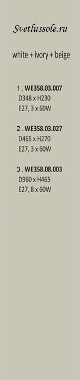 Технические характеристики светильника WE358.08.003_wertmark