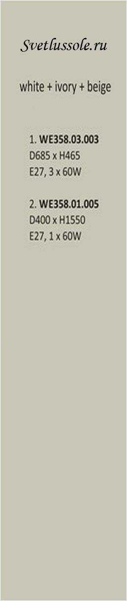 Технические характеристики светильника WE358.01.005_wertmark