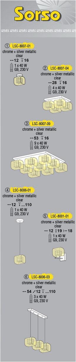 Технические характеристики светильника Sorso LSC-8007-04
