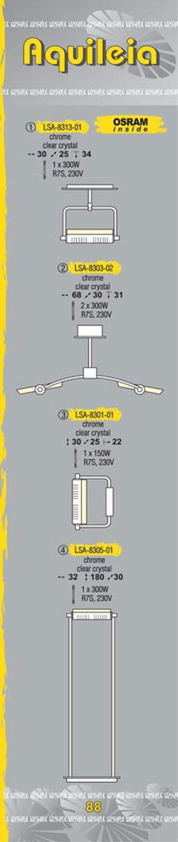 Технические характеристики светильника Aquileia LSA-8303-02