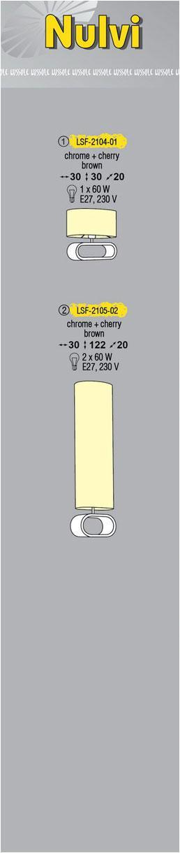 Технические характеристики светильника Nulvi LSF-2105-02