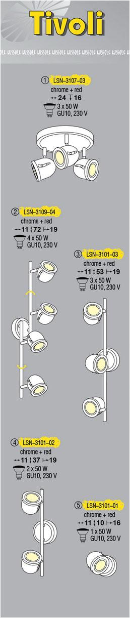 Технические характеристики светильника Tivoli LSN-3109-04